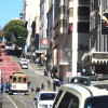 Cable Car on Powell St. San Francisco