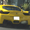 Yellow Ferrari on Sunset Blvd in Hollywood
